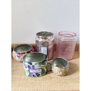 Anthropologie Voluspa 5 Empty Candle Vessels Lot